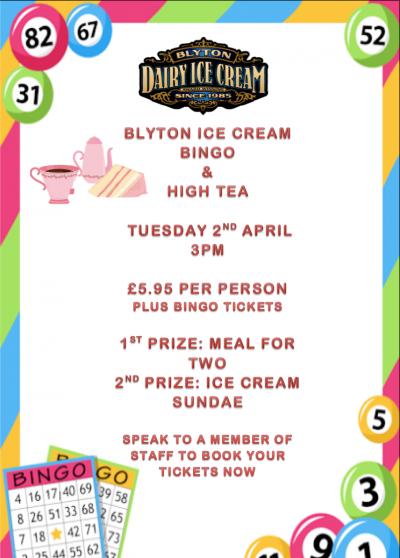 Bingo & High Team – Tuesday 2nd April, 3pm
