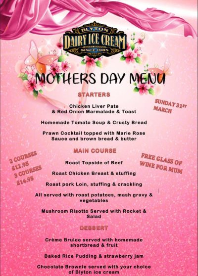 Mothers Day – Sunday 31st March